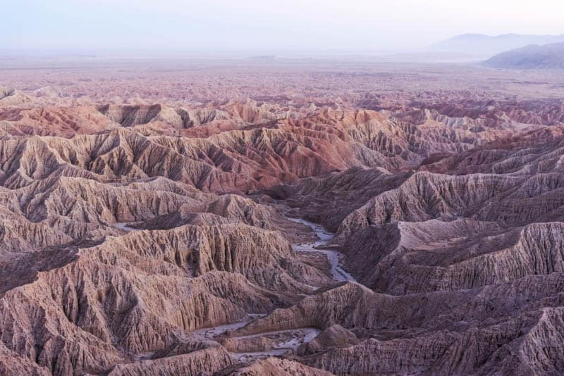 View from Font's Point in Anza-Borrego State Park, California