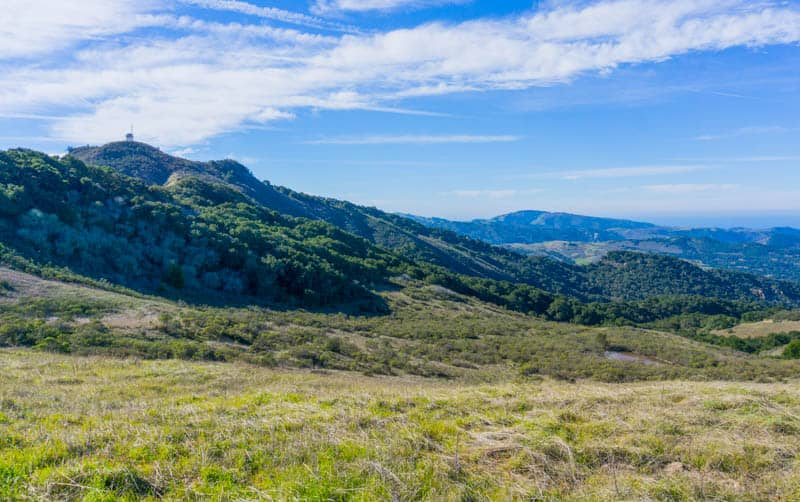 View from Garland Ranch Regional Park in Carmel Valley California