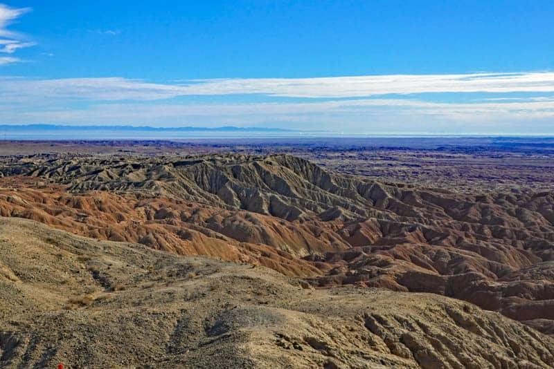 A view from Vista del Malpais in Anza Borrego Desert SP, California
