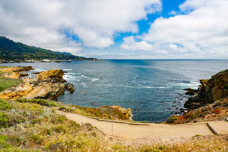 A view of Sand Hill Cove in Point Lobos State Park, California