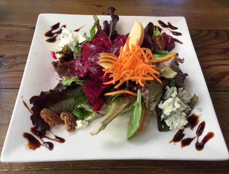 Beet salad at Sur in The Barnyard, Carmel, California