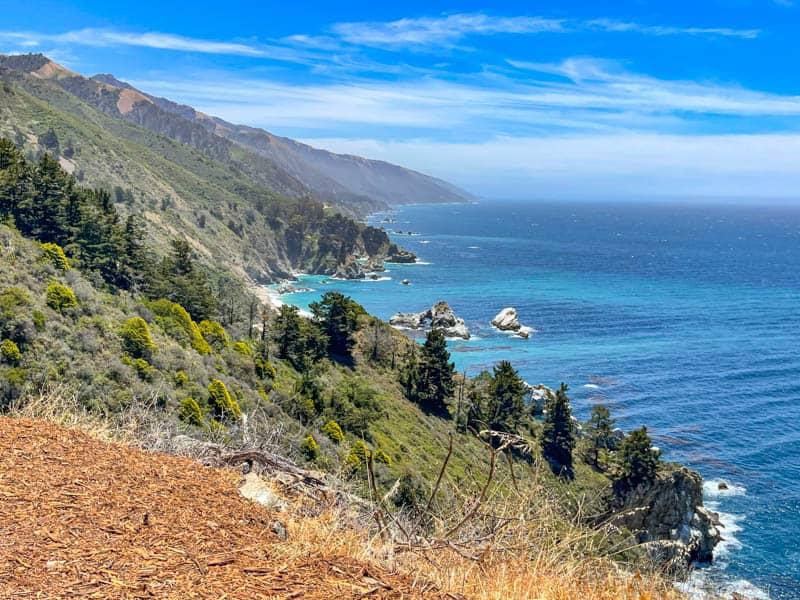 A scenic overlook along the Big Sur Coast in California