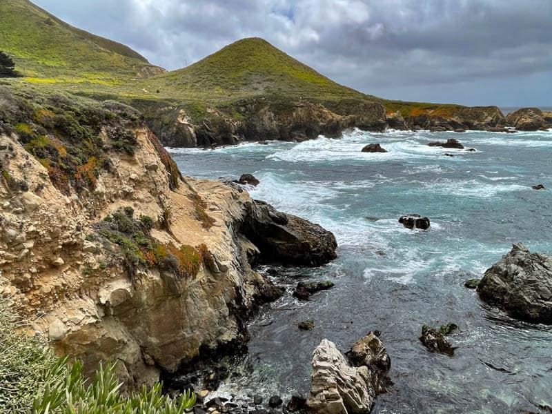 View of the Pacific Ocean from the Bluff Trail in Garrapata State Park in California