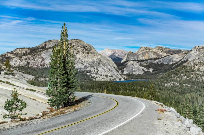 Tioga Road at Olmsted Point in Yosemite National Park, California