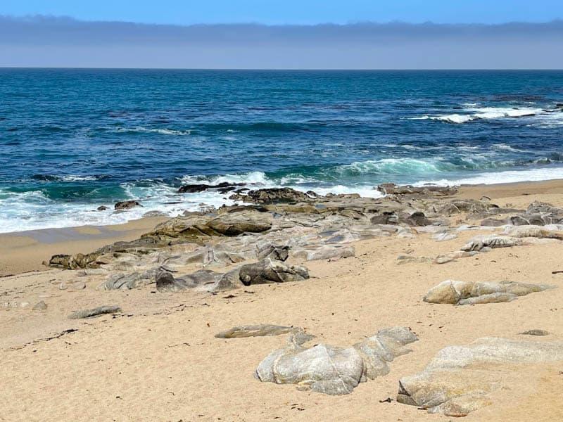 Carmel Meadows Beach, in Carmel, California, is a picturesque strolling beach.