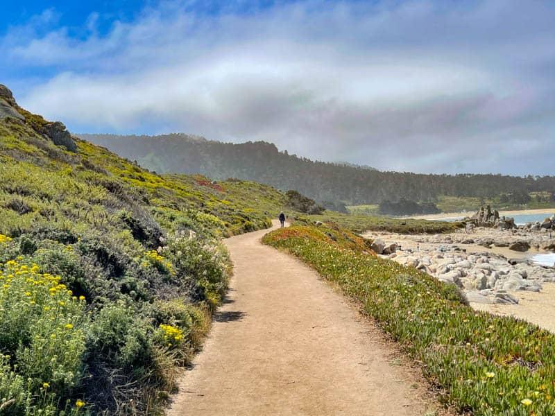 Hiking the Carmel Meadows Trail near Carmel Highlands, California