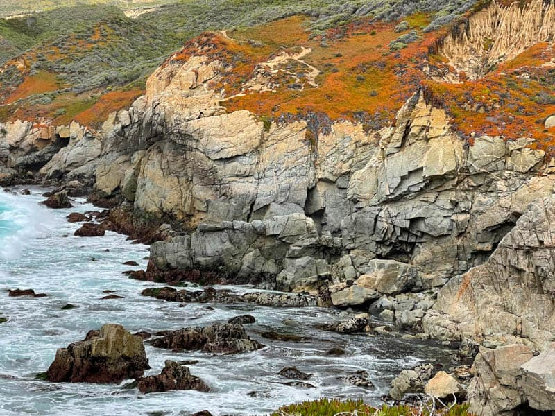 Cliffs at Soberanes Point viewed from the Garrapata Bluff Trail in California
