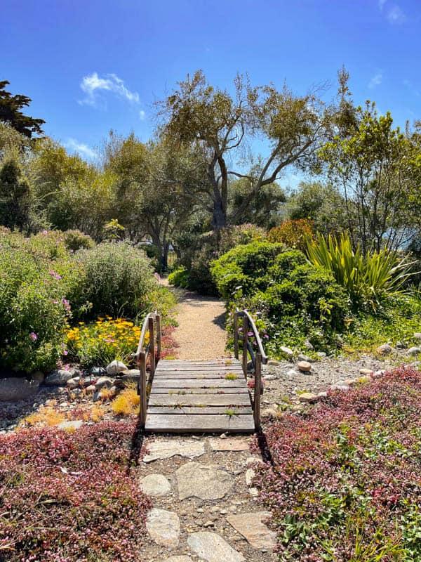 Walking the gardens of the Carmelite Monastery in Carmel California