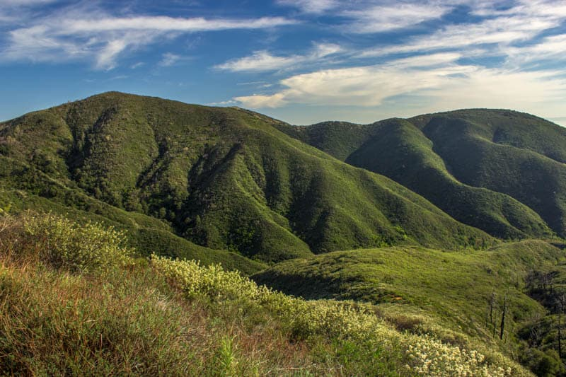 A view from the Rim of the World Scenic Byway in Southern California