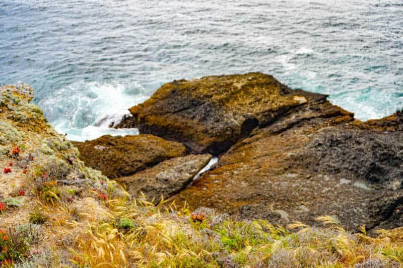 Rock formation at Sea Lion Point in Point Lobos California
