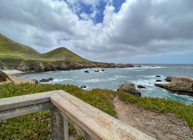 View from a Scenic Overlook along the Garrapata State Park Bluff Trail in California