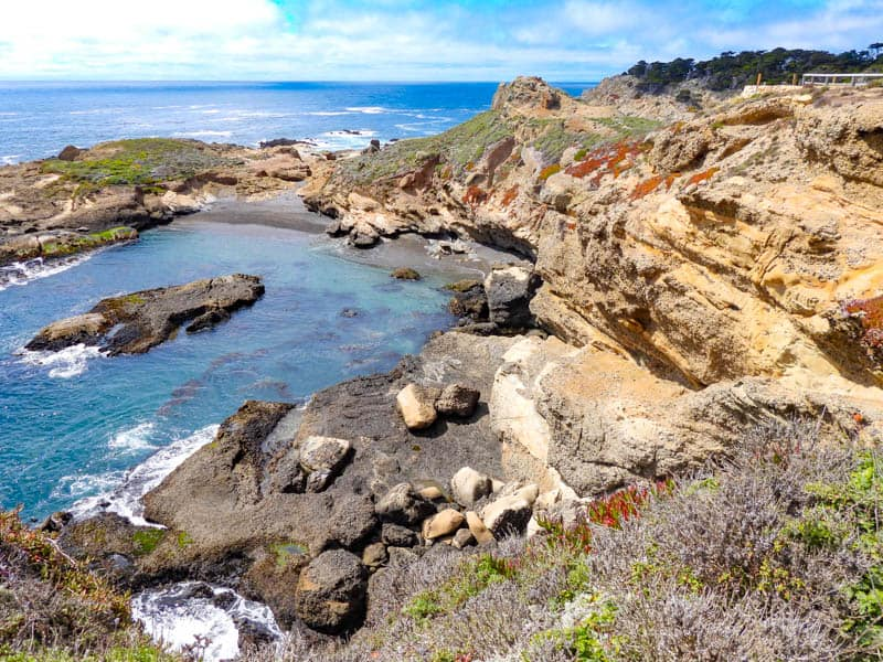 A view from the Sea Lion Point Trail in Point Lobos State Natural Reserve at the northern end of Big Sur, California