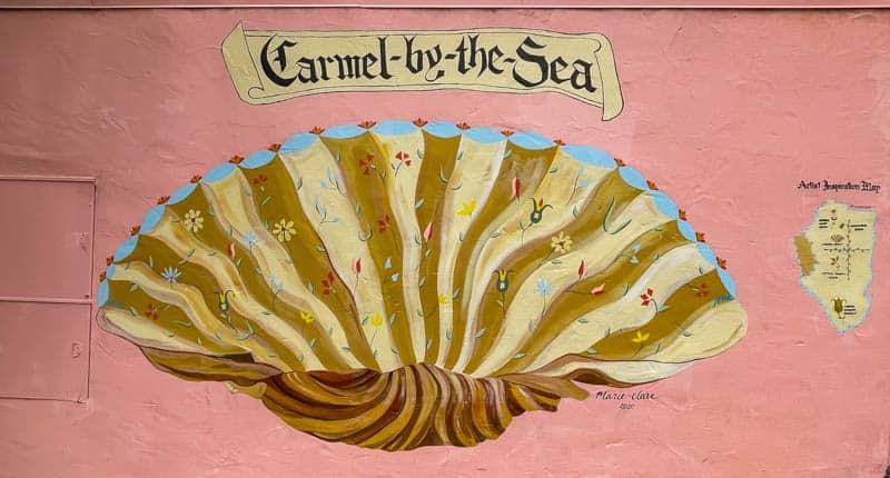 Shell mural in Carmel California