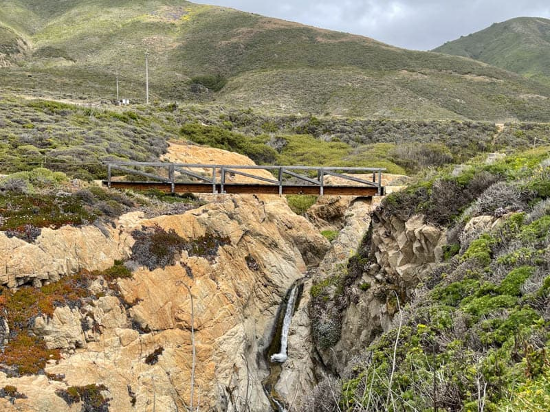 Soberanes Creek in Garrapata State Park plunges over the cliff