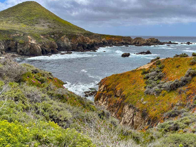 A view of Soberanes point from the Garrapata State Park Bluff Trail in Central California