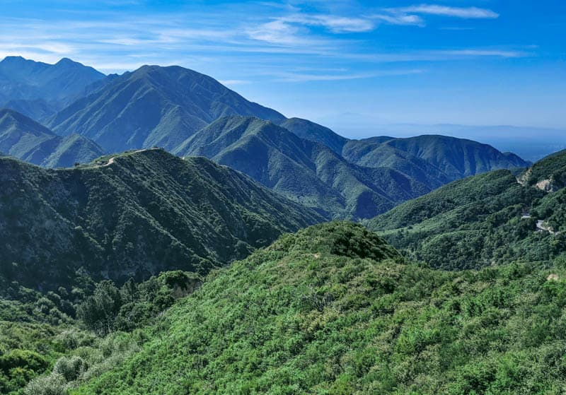 A view of the San Gabriel Mountains in southern California