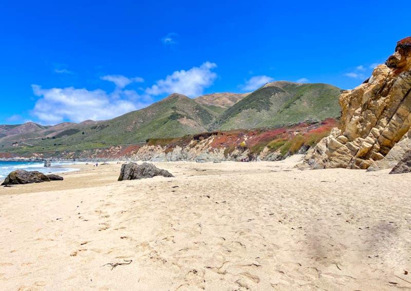 Walking along the sand at Garrapata State Beach in Big Sur, California