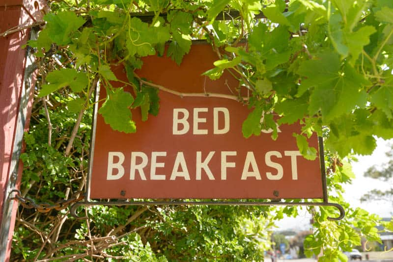 Napa Valley in California is known for its charming bed and breakfast inns.