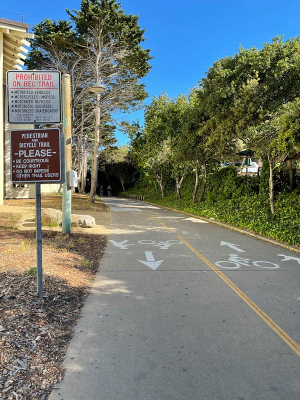 Monterey Bay Coastal Recreation Trail at Cannery Row in Monterey  California