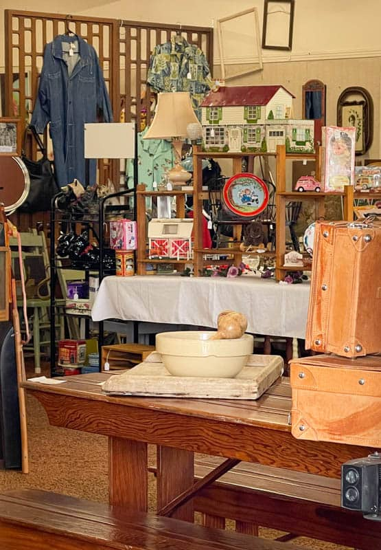 Antiques on display at Main Street Antiques in Morro Bay, California