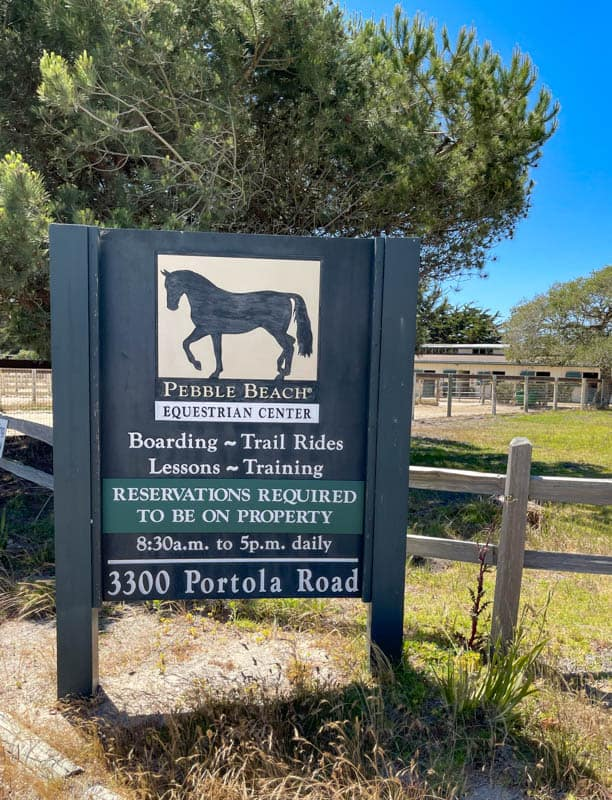 Pebble Beach Equestrian Center in California