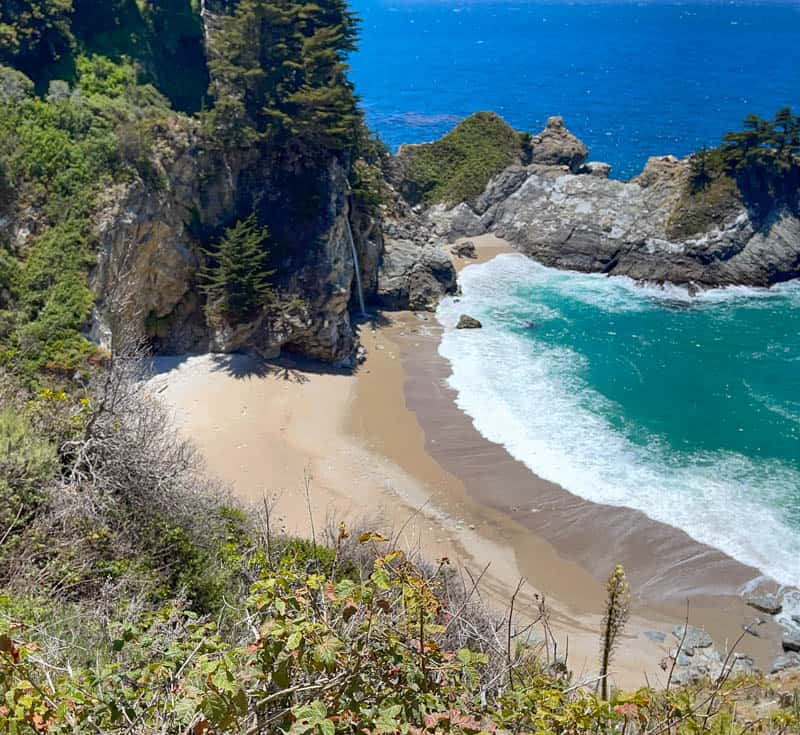 McWay Falls tends to be in the shadow until later in the day