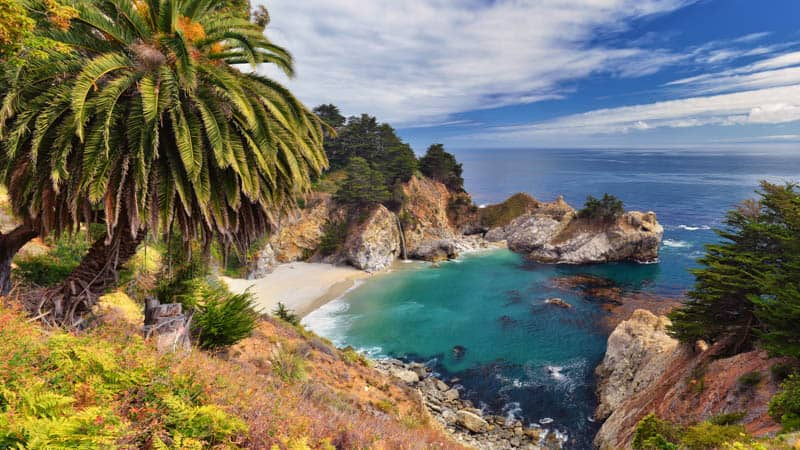 McWay Falls from Overlook in Julia Pfeiffer Burns State Park, California