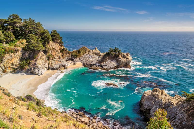 Photographing McWay Falls in California in good light!