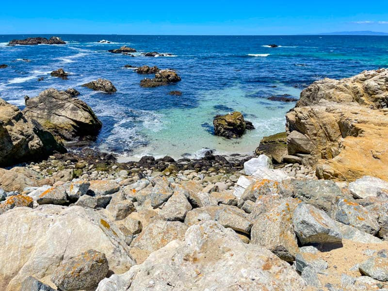 Beautiful sea views along the 17-Mile Drive in Central California