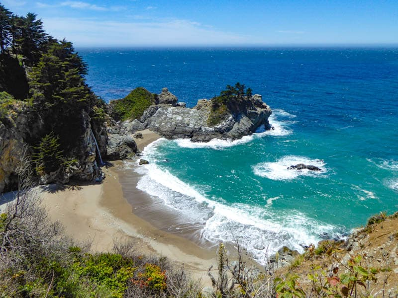 The spectacular setting of McWay Falls, view from first overlook along McWay Falls Trail