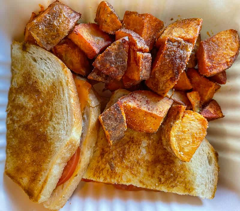 The Spicy Tom cheese sandwich from Frankie and Lola in Morro Bay, California