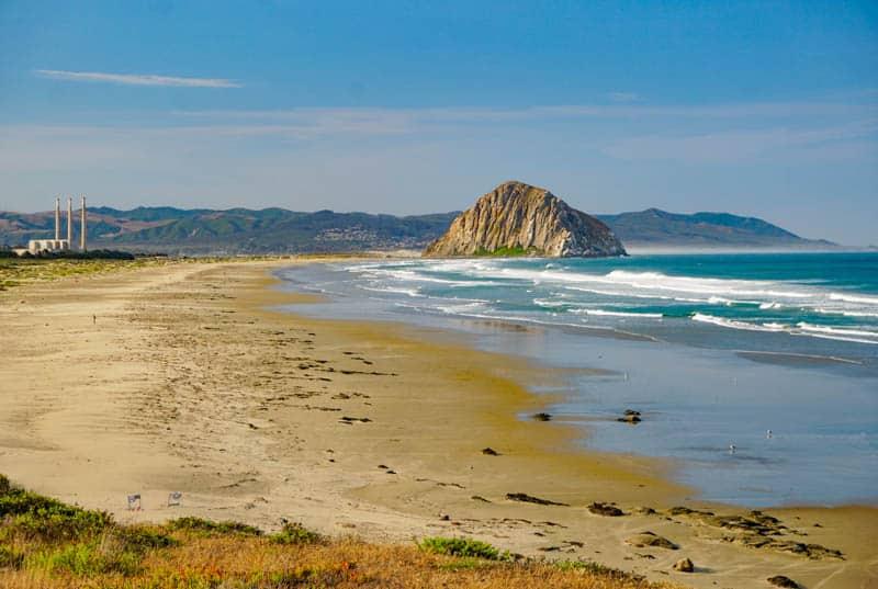 Three Stacks and a Rock: Morro Bay, California