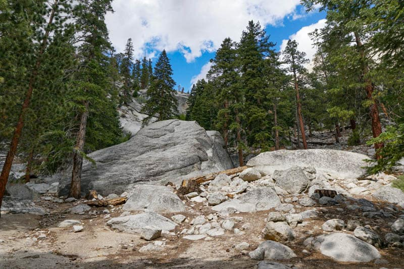 A bright clear day at Whitney Portal in CA