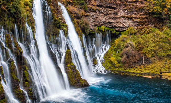 Burney Falls is one of the most beautiful waterfalls in California