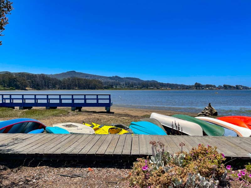 Kayaks at Baywood Pier in Los Osos-Baywood, California