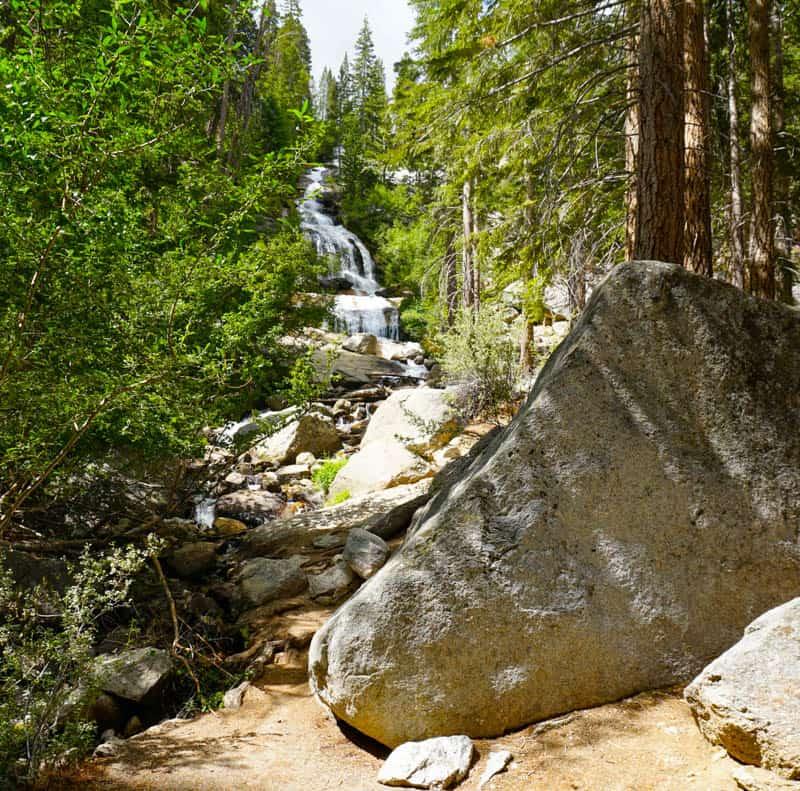 Lone Pine Creek Falls at Whitney Portal, California