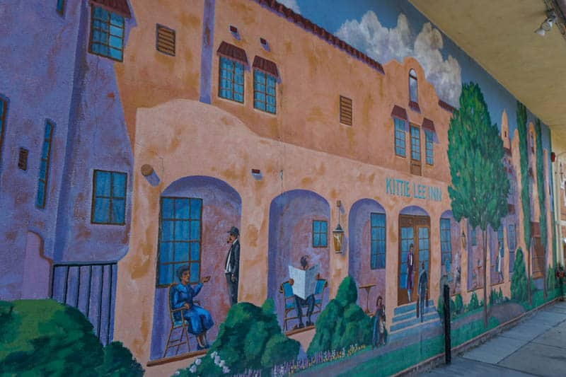 Colorful mural in downtown Bishop, CA