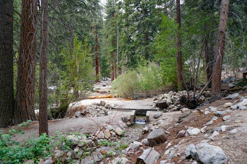 Scenic picnic area at Whitney Portal in Lone Pine, California