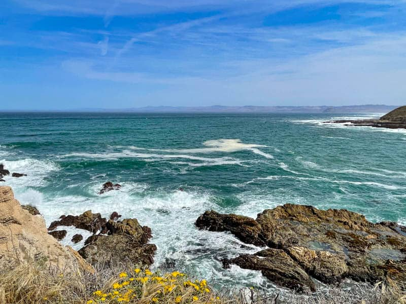 View of the Pacific Ocean at Montana de Oro State Park in California