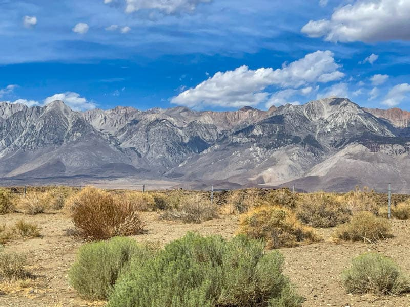 A view from Whitney Portal Road in California
