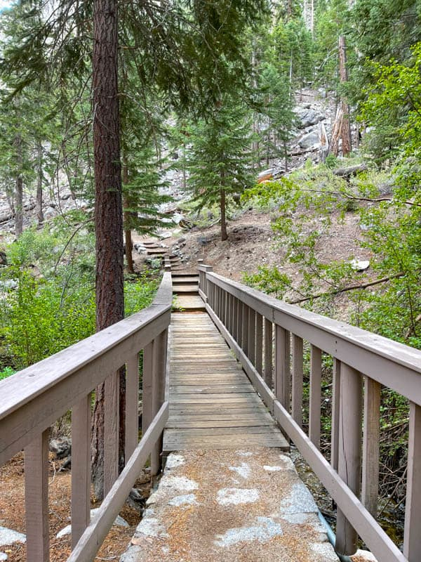 Top part of the Whitney Portal National Recreation Trail in Whitney Portal, CA