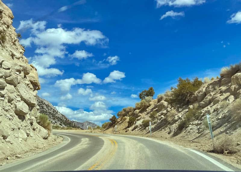 Switchback on Whitney Portal Road in Lone Pine, CA