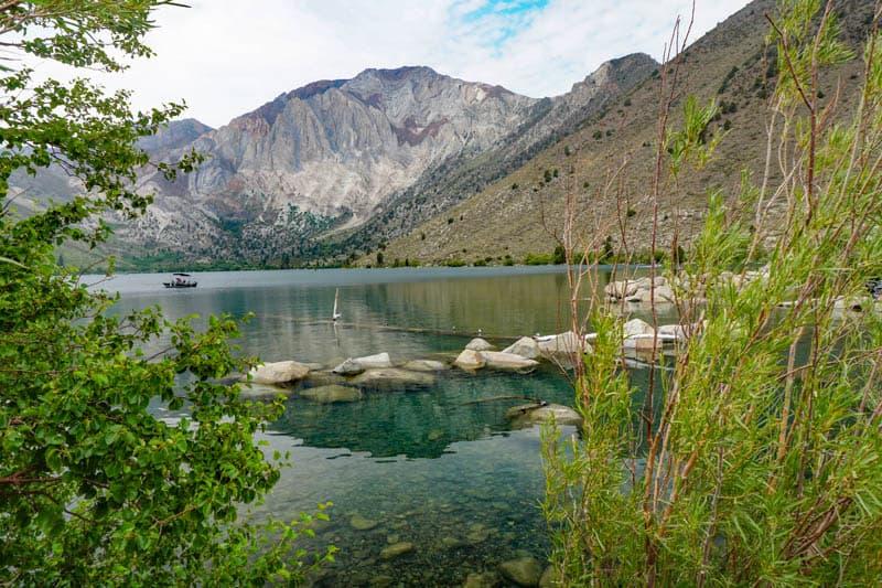Boating Convict Lake in California