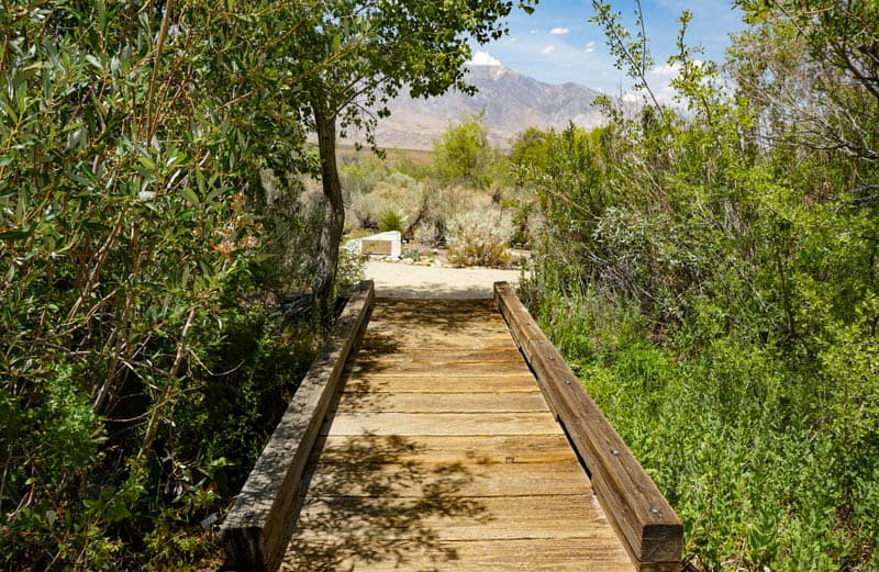 A bridge over Independence Creek in Independence California
