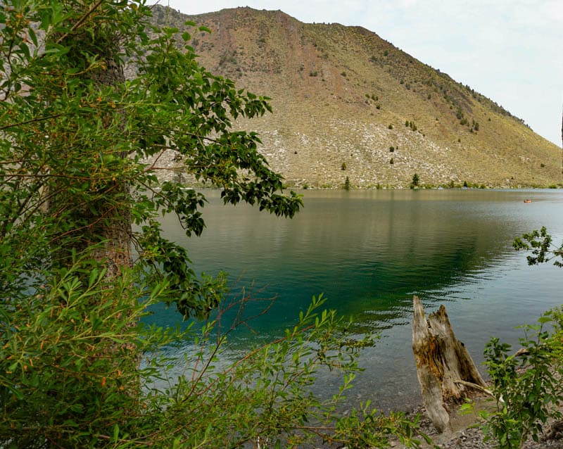 Convict Lake is great for a swim in the summer