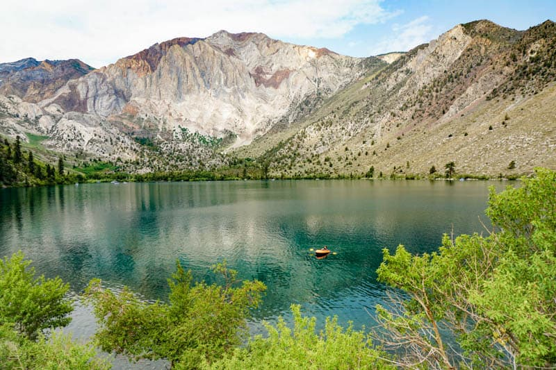 Convict Lake in the summer