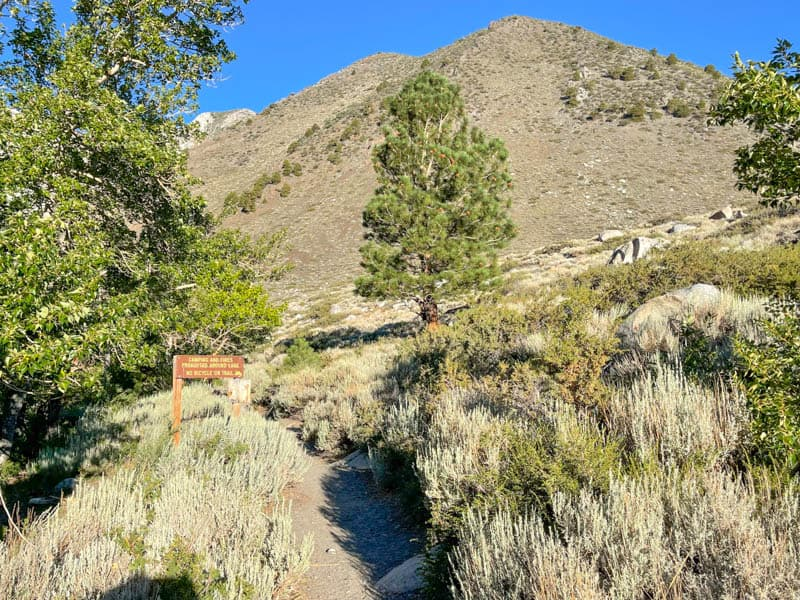 Trail to the backcountry at Convict Lake in the Eastern Sierra