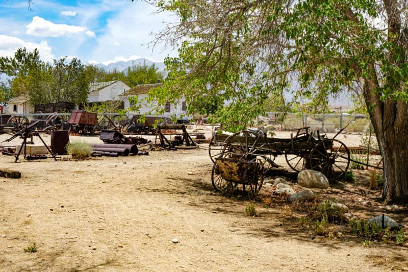 Outdoor Exhibits at the Eastern Sierra Museum in Independence CA