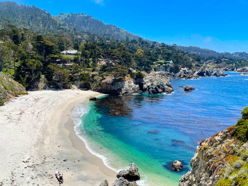 Gibson Beach at Point Lobos State Natural Reserve in California