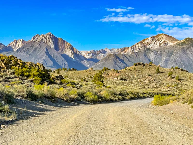 The garvel road at Hot Creek Geological Site in California
